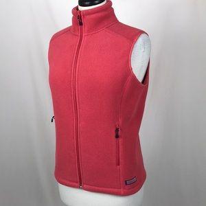 Vineyard Vines Women's Fleece Vest Pink Small